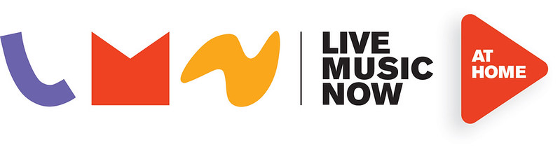 logos for Live Music Now at Home