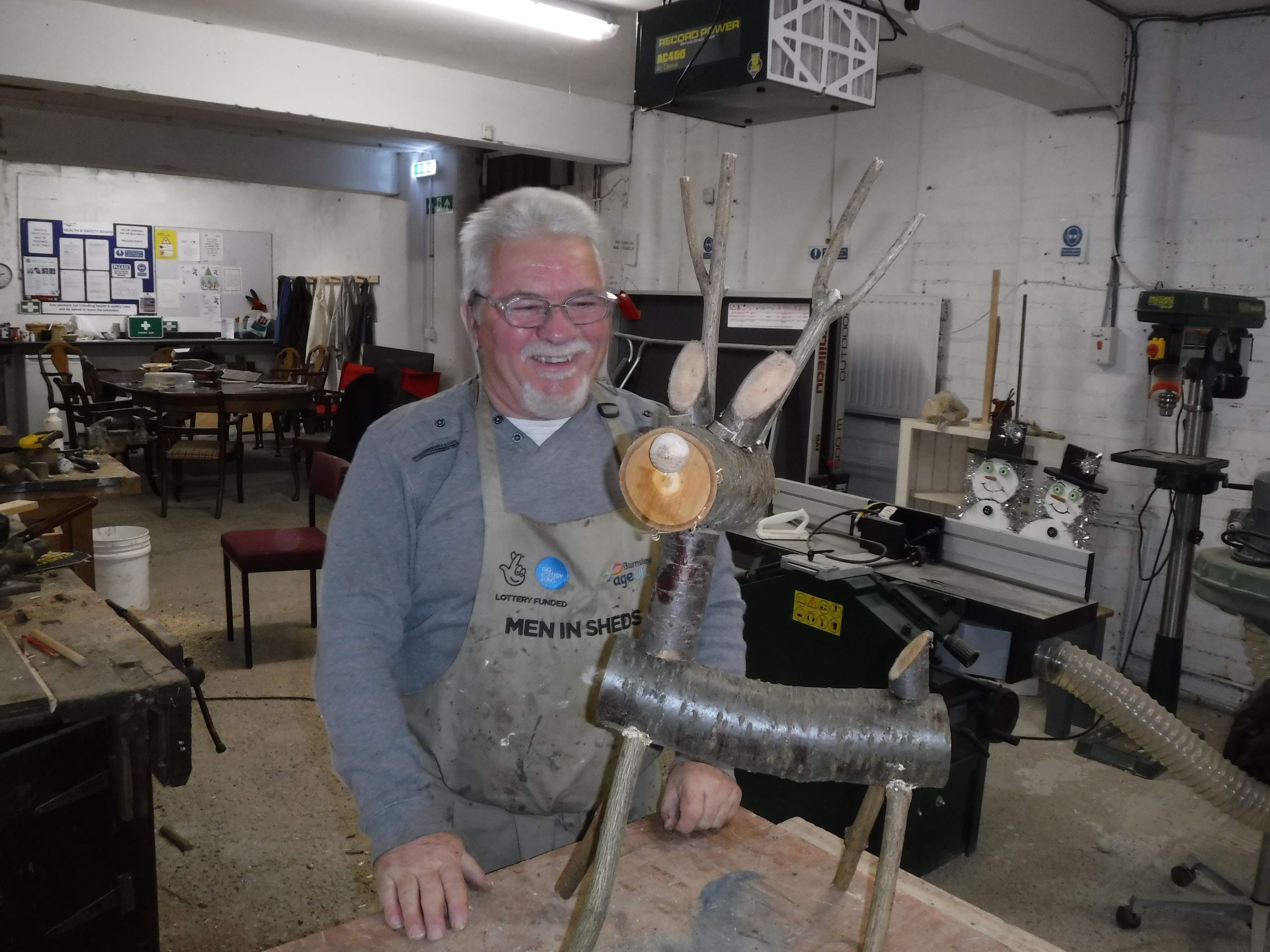 Steve at the Age UK Barnsley Men in Sheds Project