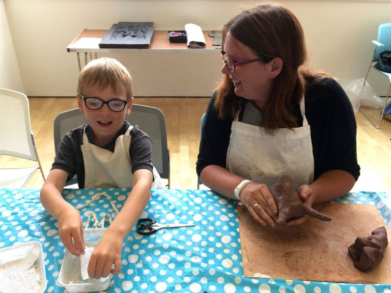Visually impaired children's workshop at The Beaney by Wendy Daws