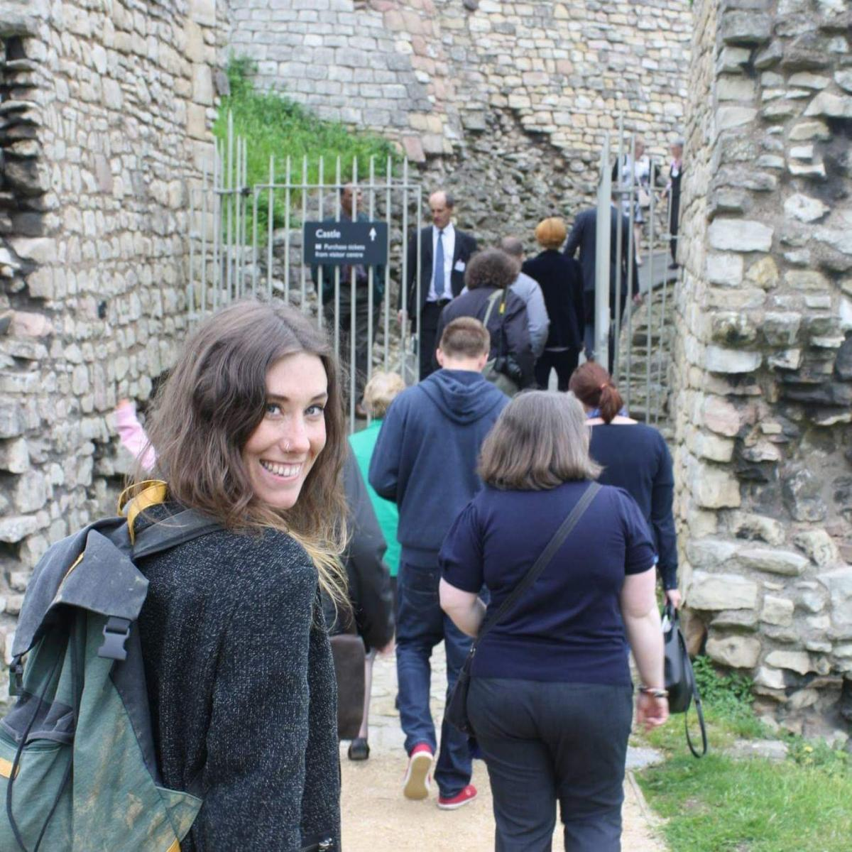 Rebecca Hearne out on an archaeology trip