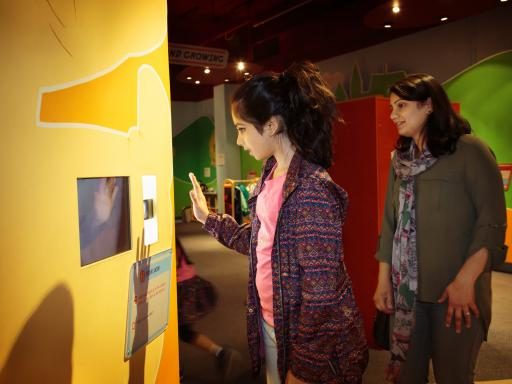 A woman and young girl look at a display in the Life Zone Gallery at Thackray Medical Museum, Leeds