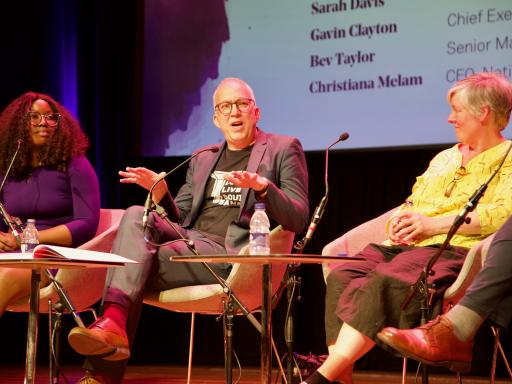 Three panellists at the Creative Health Conference 2019 (Southbank Centre)
