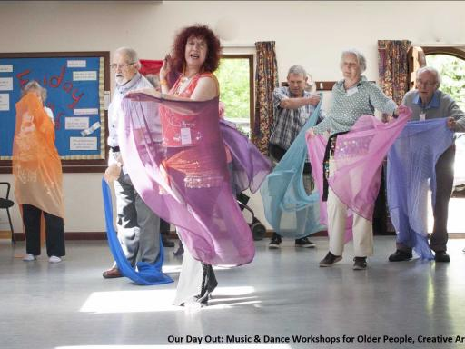 Our Day Out, Creative Arts East- participants dancing
