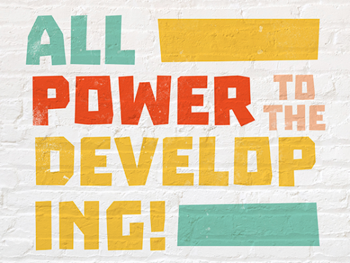 All power to the developing logo