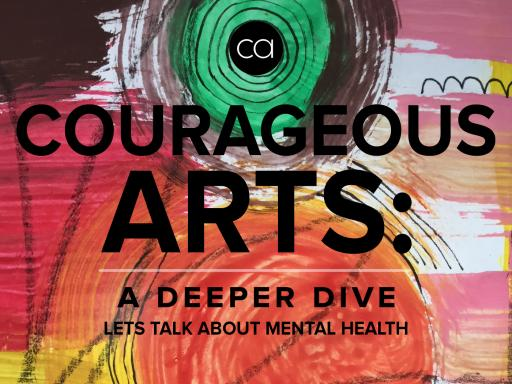 Logo for Courageous Arts' podcast